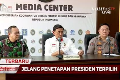 Wiranto Ancam Pendemo di Jakarta yang akan Kepung KPU, Bawaslu, DPR dan Istana: Hukuman Berat