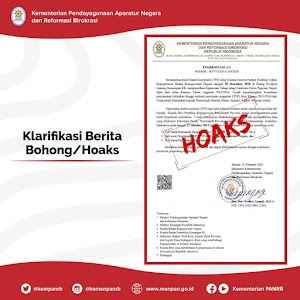 Hati-Hati, Beredar Hoaks Surat Pengangkatan CPNS Jalur Khusus KemenPANRB