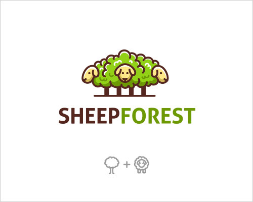 Logo Example - Sheep Forest