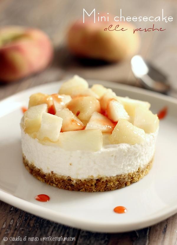Mini cheesecake alle pesche