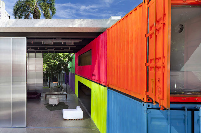 Decameron - Low Budget Colorful Shipping Container Store, Brazil 3