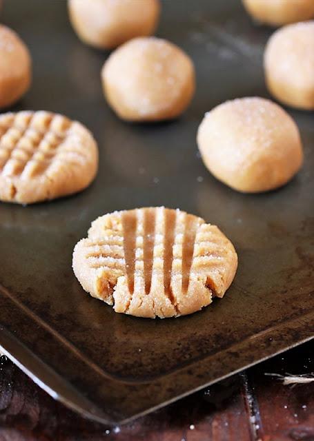 Flourless Peanut Butter Cookies Before Baking Image