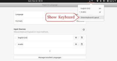 Show Keyboard Layout