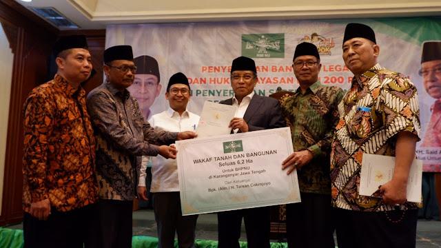 PBNU Terima Wakaf Tanah 7 Hektare di Solo Raya