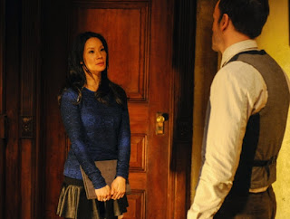 Lucy Liu as Joan Watson CBS Elementary Episode 15 A Giant Gun, Filled with Drugs