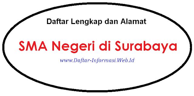 Daftar Lengkap dan Alamat SMA Negeri di Surabaya
