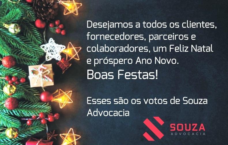 Souza Advocacia deseja a todos um Feliz Natal e Próspero Ano Novo
