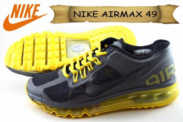 toko sepatu NIKE AIRMAX 49 FULL TABUNG GRADE ORI DOFF Warna hitam kuning  jakarta - Range Shoes 84cb0ee609