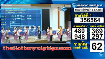 Thailand Lottery live results 16 December 2018 Saudi Arabia on TV