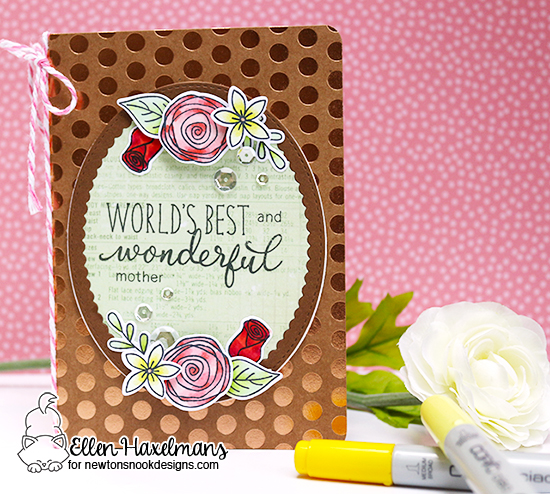 Wonderful mother floral card by Ellen Haxelmans | Simply Relative & Lovely Blooms Stamp sets by Newton's nook Designs #newtonsnook