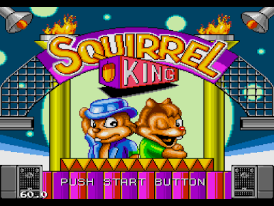 【MD】松鼠大戰按B+上加滿紅心+9個手套Hack版,可愛的松鼠動作遊戲!