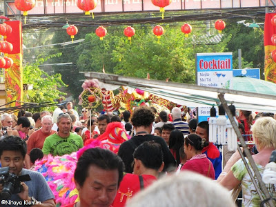 Chinese New Year in Maenam 2013, the crowd
