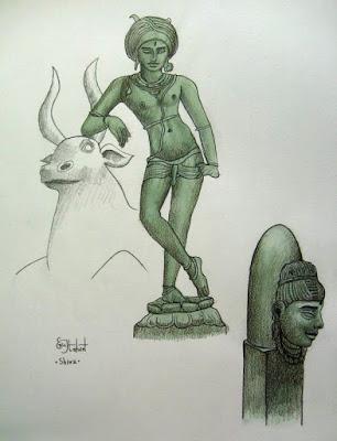 absolu, dieux, feu, Inde, linga, Nandi, Nandin, phallus, Shiva, shivaite,