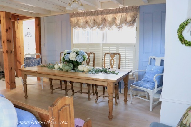 French Country Pine Table in post and beam house