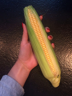 homemade corn cob from the oven