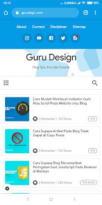 Tutorial Mengubah Warna Address Bar Browser Sesuai Dengan Warna Website