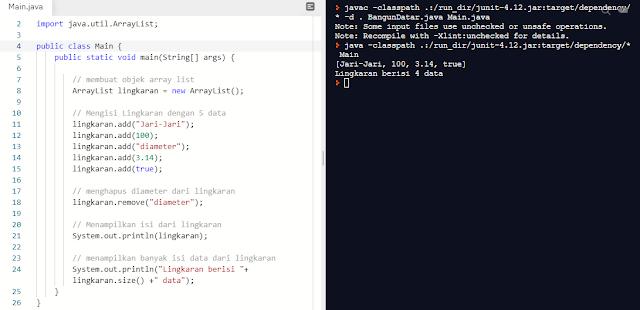 ArrayList pada Java | Program Sederhana Menggunakan ArrayList