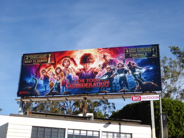 Stranger Things 2 Globes SAG FYC billboard