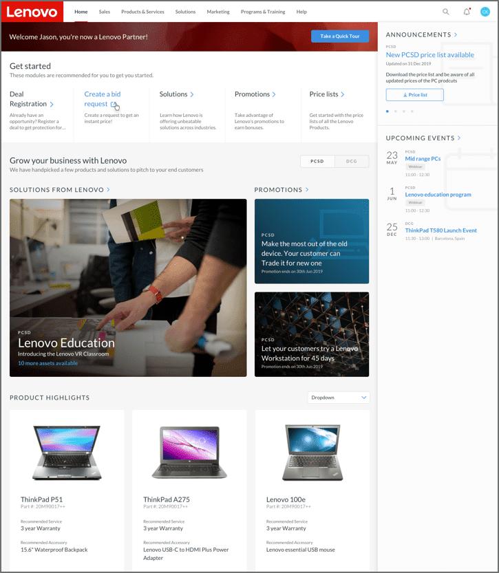 Lenovo presentará mundialmente una herramienta para sus socios comerciales, con herramientas de ventas en tiempo real