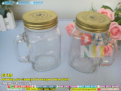 Drinking Jar County Fair Dengan Tutup Gold