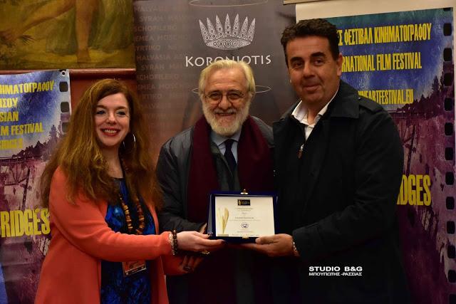 """Αρίστος οιωνός για τον σκηνοθέτη Γιάννη Σμαραγδή η βράβευση του στο Ναύπλιο εν όψει της νέας ταινίας """"Καποδίστριας"""""""