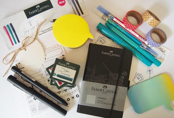 Création d'un bullet journal avec la collection Grip de Faber Castell