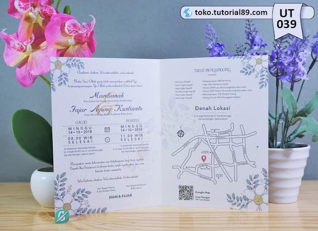 Undangan pernikahan UT039 - Seimpel Lipat 2 +free kartu ucapan terima kasih