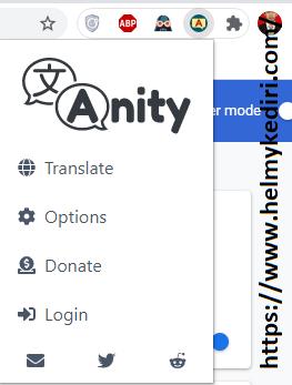 menggunakan anity translator