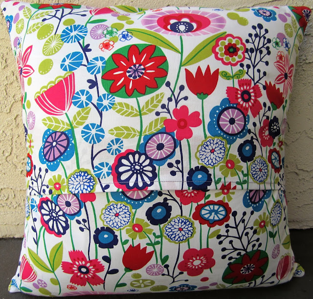 Quarter Incher Finished Bloomin Rainbow Pillow