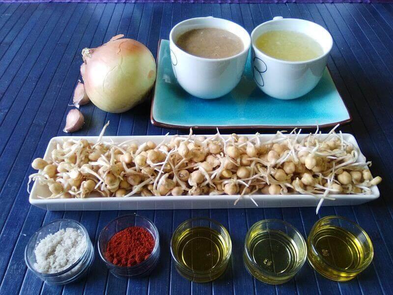 Ingredientes humus de garbanzos