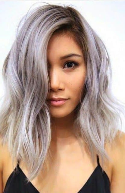Medium Length Hairstyle and Haircuts For Women -Silver Bob Medium Length Hairstyle
