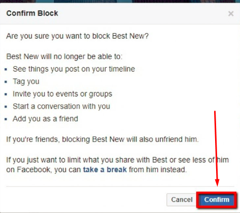 How Block Someone On Facebook