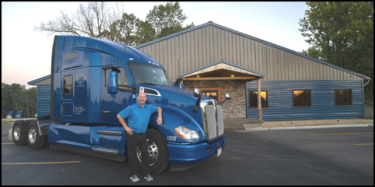 Al Beers with a Karr Transportation Kenworth T680