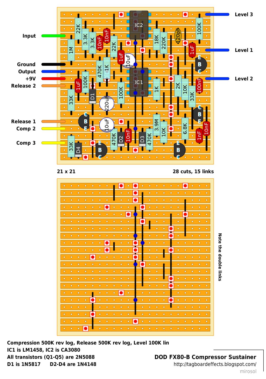 guitar fx layouts dod fx80b compressor sustainer. Black Bedroom Furniture Sets. Home Design Ideas