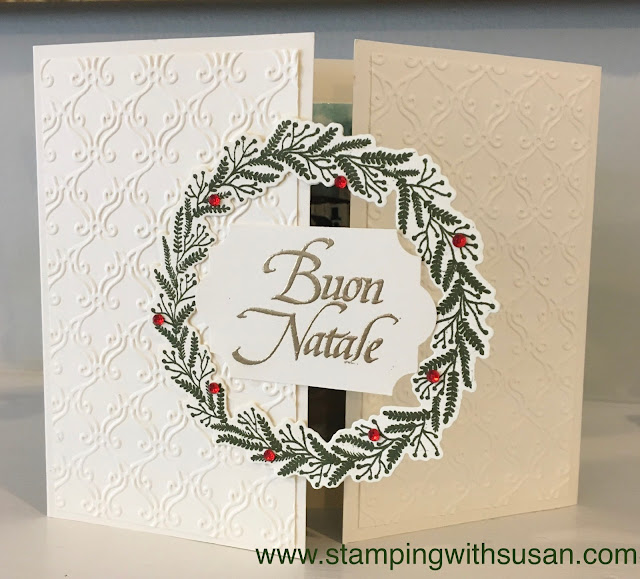 Stampin' Up!, Tidings All Around, Buon Natale, www.stampingwithsusan.com, Susan LaCroix, Still Scenes,