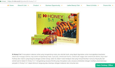 Produk K-Link K-Honey Indonesia