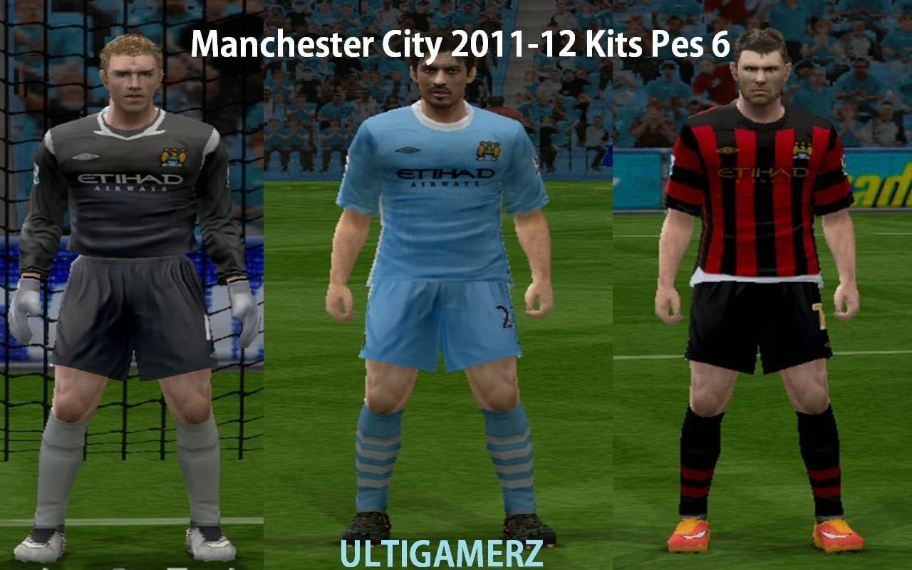 Ultigamerz Manchester City 2011 To 2016 Kits Pes 6