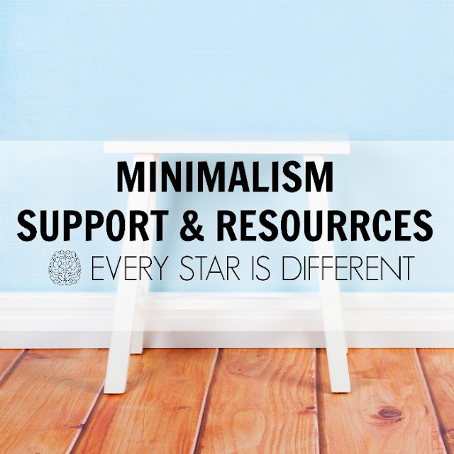 Minimalism Support & Resources from Every Star Is Different