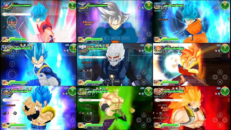 DBZ TTT Super Dragon Ball Heroes GT MOD ISO PSP