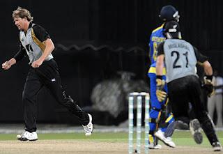 Jacob Oram T20I Hat-trick Highlights