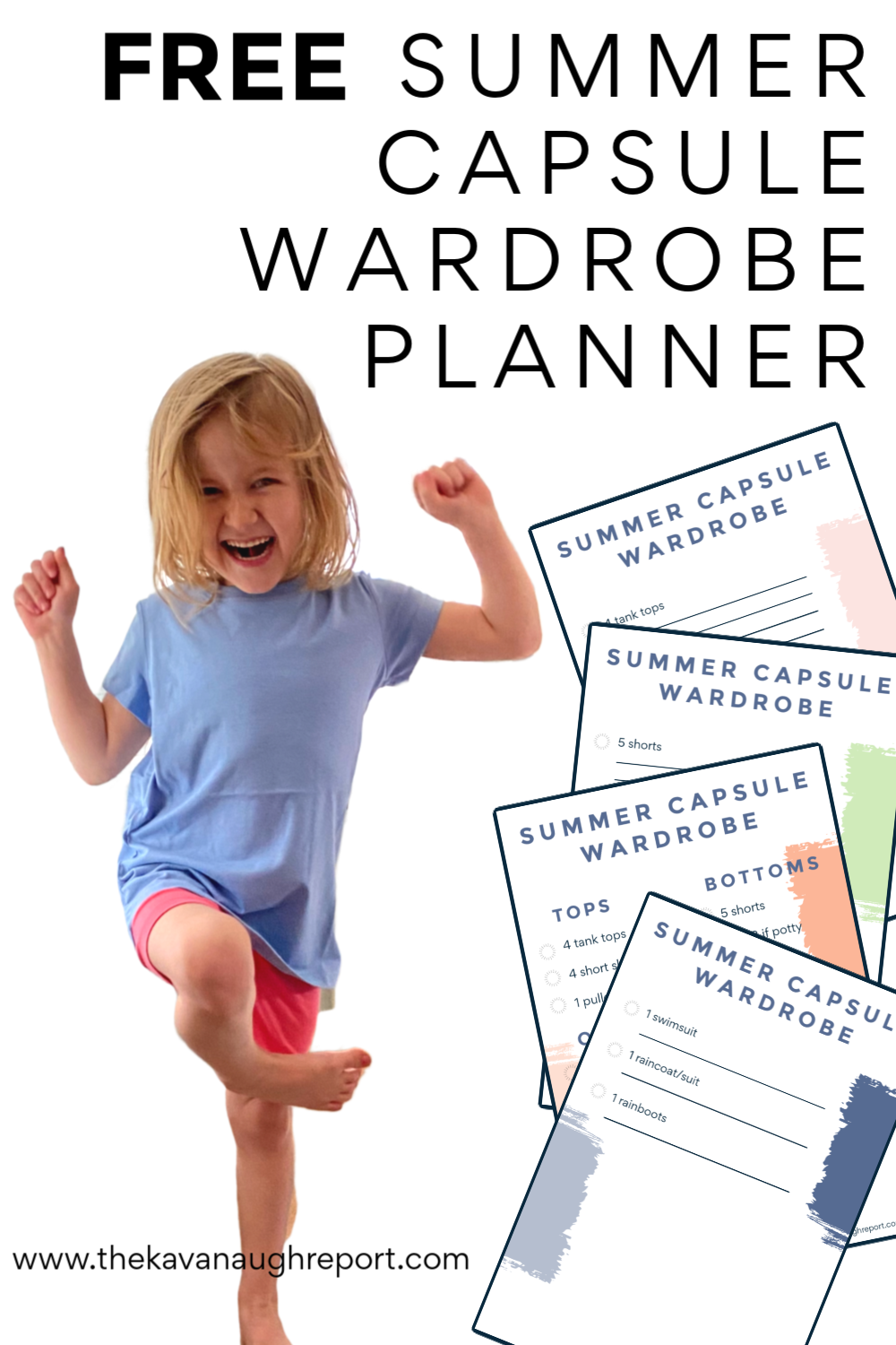 Capsule wardrobes can make dressing your children easier and more independent in a Montessori home. In this free summer capsule wardrobe planner you can organize and plan for your child's newest wardrobe without spending or buying too much.