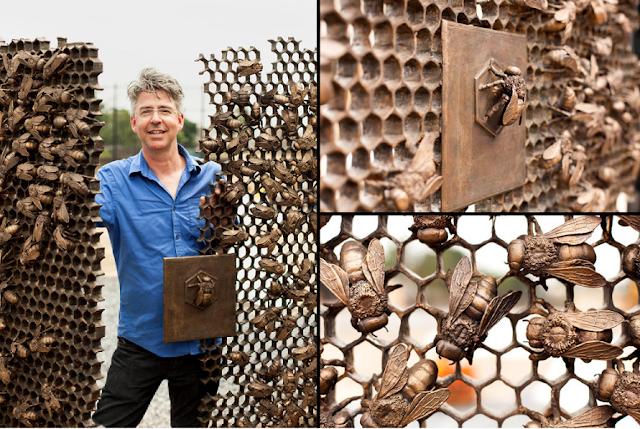 Μελισσοκόμος γλύπτης ξετρελαίνει την Αμερική με έργα που έχουν ως θέμα την μελισσοκομία