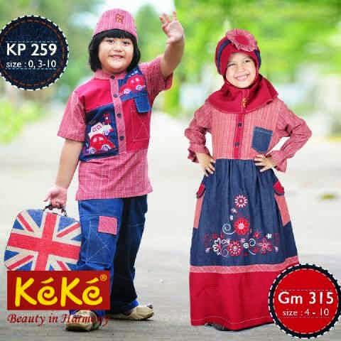 25 Model Baju Muslim KeKe Anak Lakilaki dan Perempuan