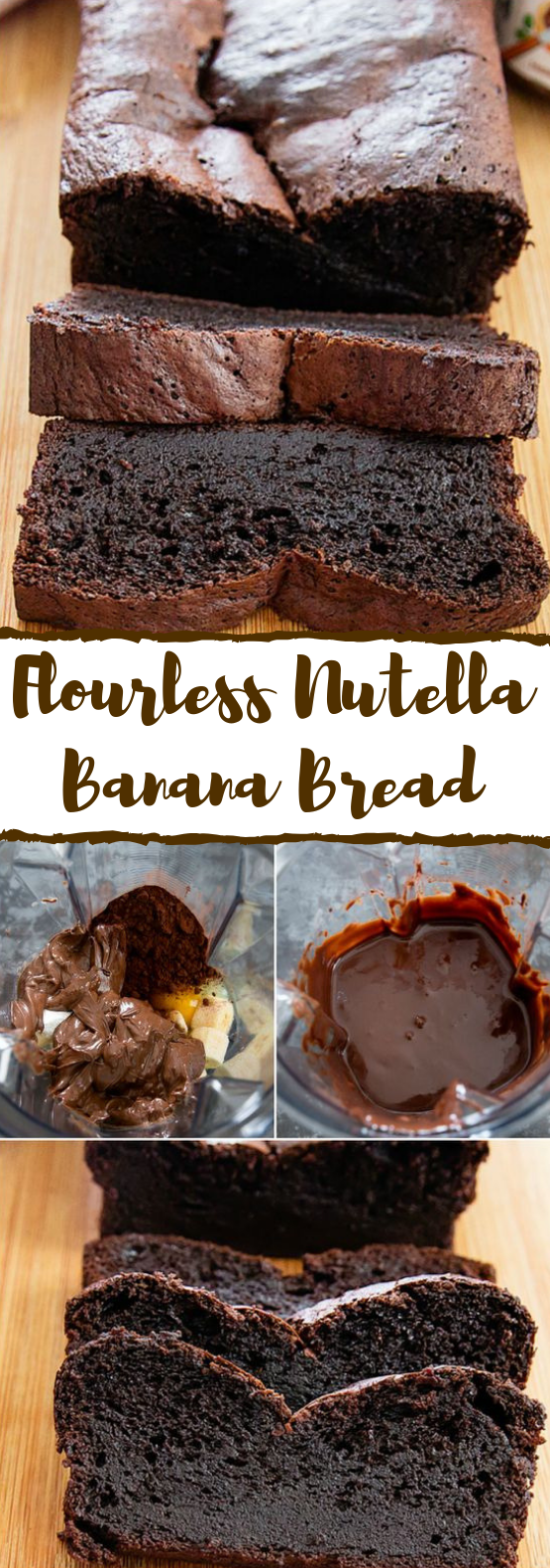 FLOURLESS NUTELLA BANANA BREAD #Chocolate #Dessert