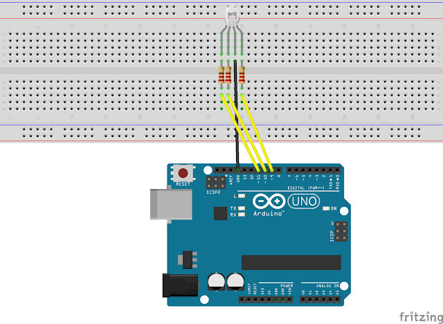 how to control RGB led with Arduino