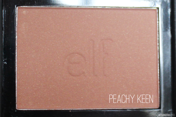 E.L.F. STUDIO // Blush Collection + Swatches - Peachy Keen - cassandramyee
