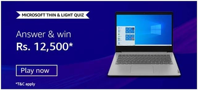 Amazon Microsoft thin & Light Quiz: Which of the following features describe Modern PCs?