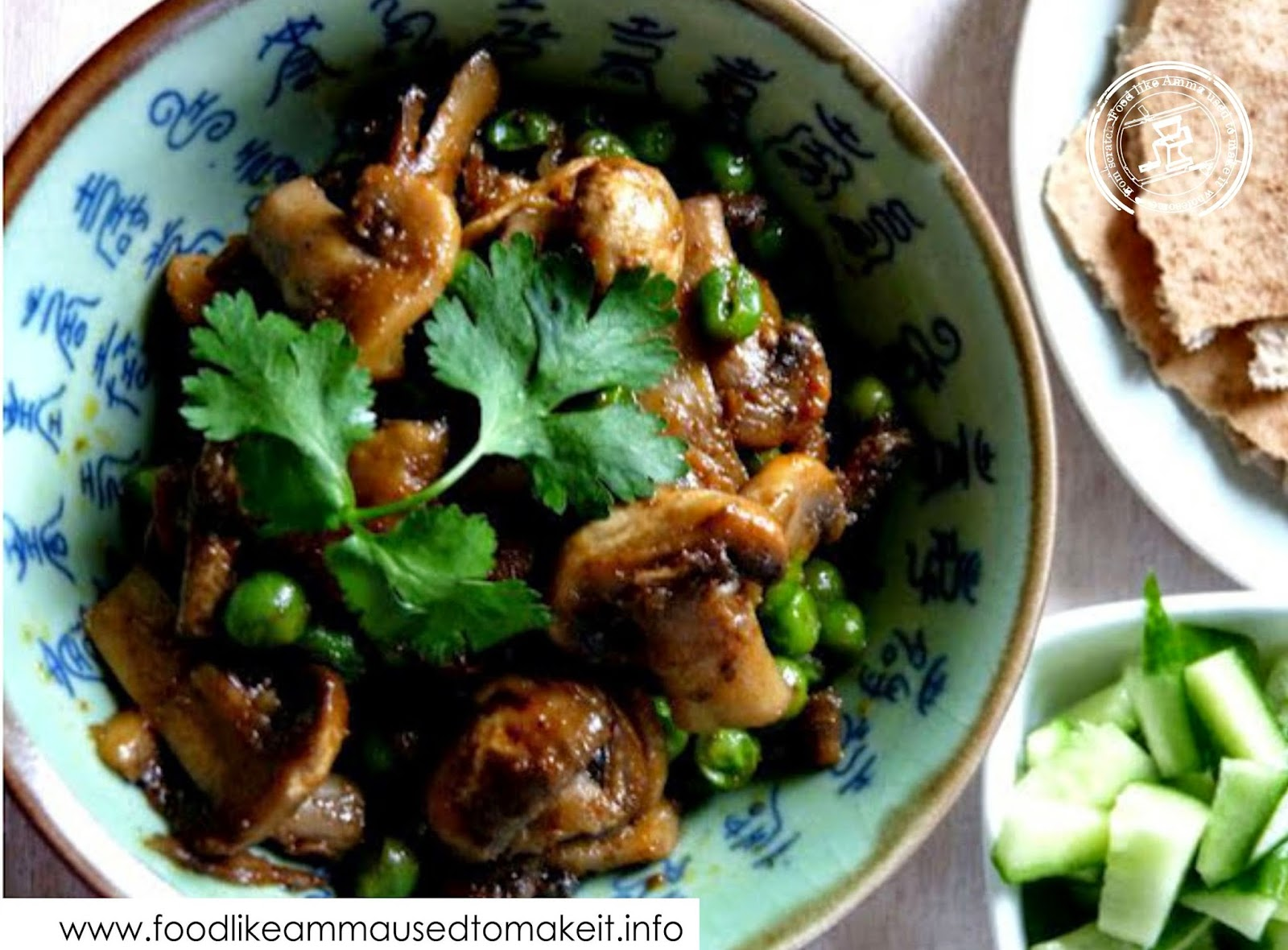 purtassi recipes, cook mushroom curry