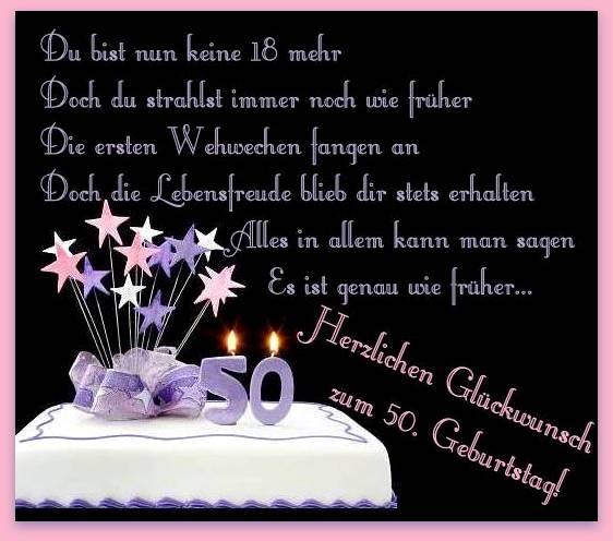 Herzlichen Glückwunsch zum 50 Geburtstag
