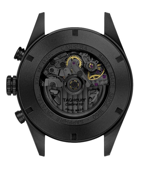 TAG Heuer Carrera Calibro 16 Day-Date Chronograph Black Titanium
